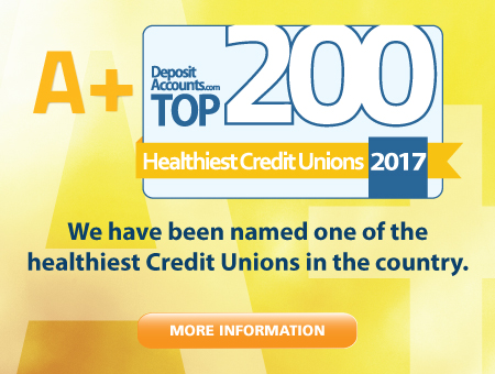 We have been named the 7th Healthiest Credit Union by DepositAccounts.com. Read all about it!