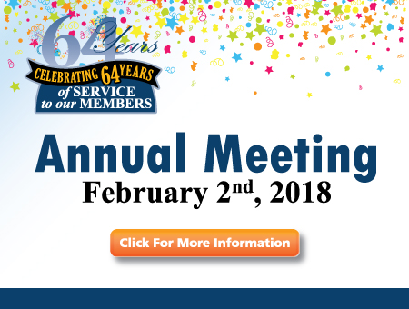 64th Annual Meeting - Friday, February 2nd, 2018 - 6:00PM - 1330 Conway St., St. Paul, MN 55106 - Click for more information