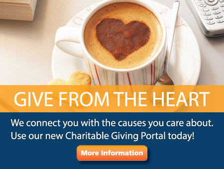 Give from the Heart. Use our new Goodcoins Charitable Giving Platform to donate to your favorite charities.