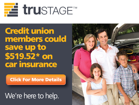 TruStage - Credit Union members could save up to $519.52* on car insurance. Click for more Details. We're Here to Help.